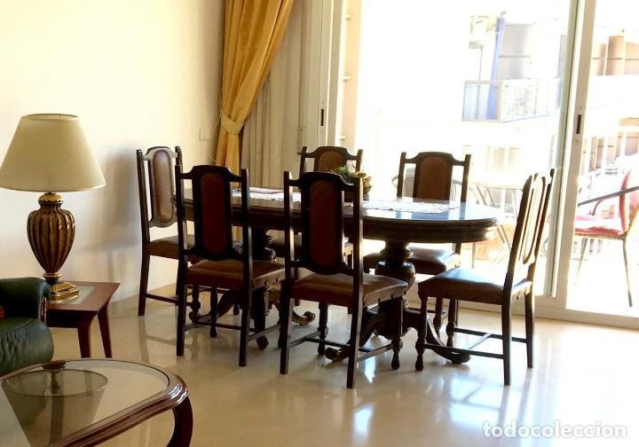 mesa comedor de 6 comensales ampliable + 6 sill - Kaufen Antike ...