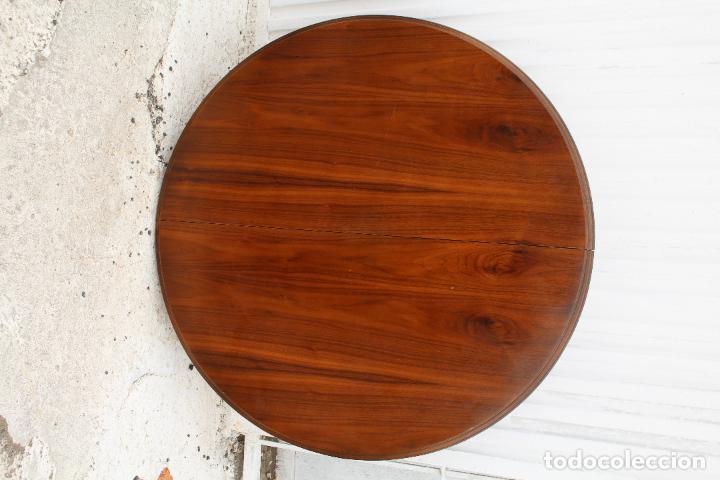 Antigüedades: mesa redonda extensible - Foto 5 - 112391339