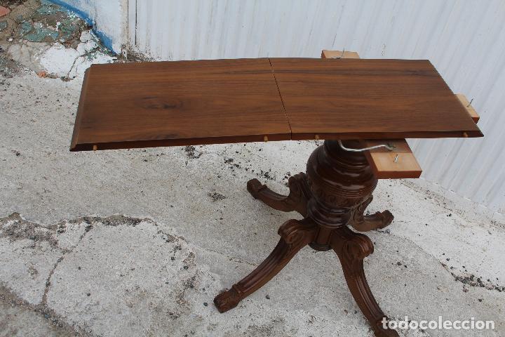 Antigüedades: mesa redonda extensible - Foto 8 - 112391339