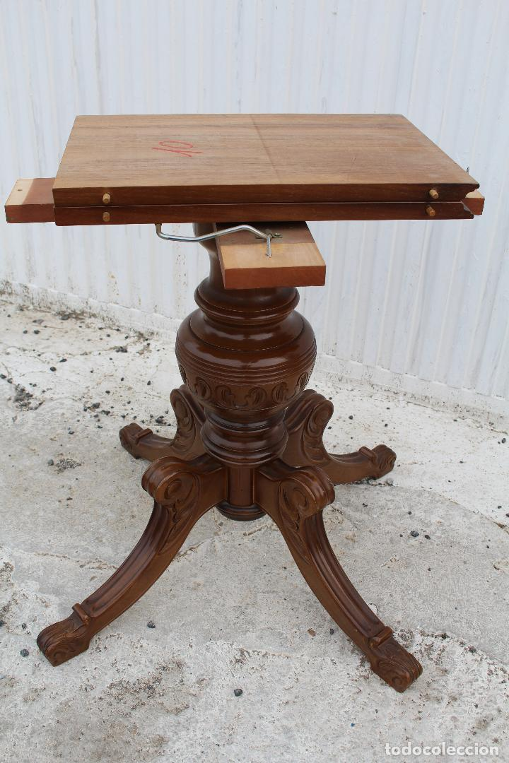 Antigüedades: mesa redonda extensible - Foto 9 - 112391339