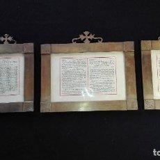 Antigüedades: MARCOS SACRA DE BRONCE. Lote 112405119