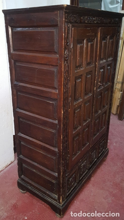 Antigüedades: ALACENA. ESTILO ESPAÑOL. MADERA DE PINO. ESPAÑA. SIGLO XVII - XVIII. - Foto 6 - 112405683