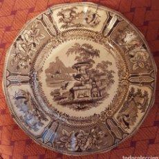 Antigüedades: SARGADELOS PLATO III EPOCA MEDIDAS 23,5 X 23,5 CM.. Lote 112423342