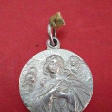 Antigüedades: MEDALLA DE LA VIRGEN MARÍA. 2 CM DE DIAMETRO.. Lote 112423903
