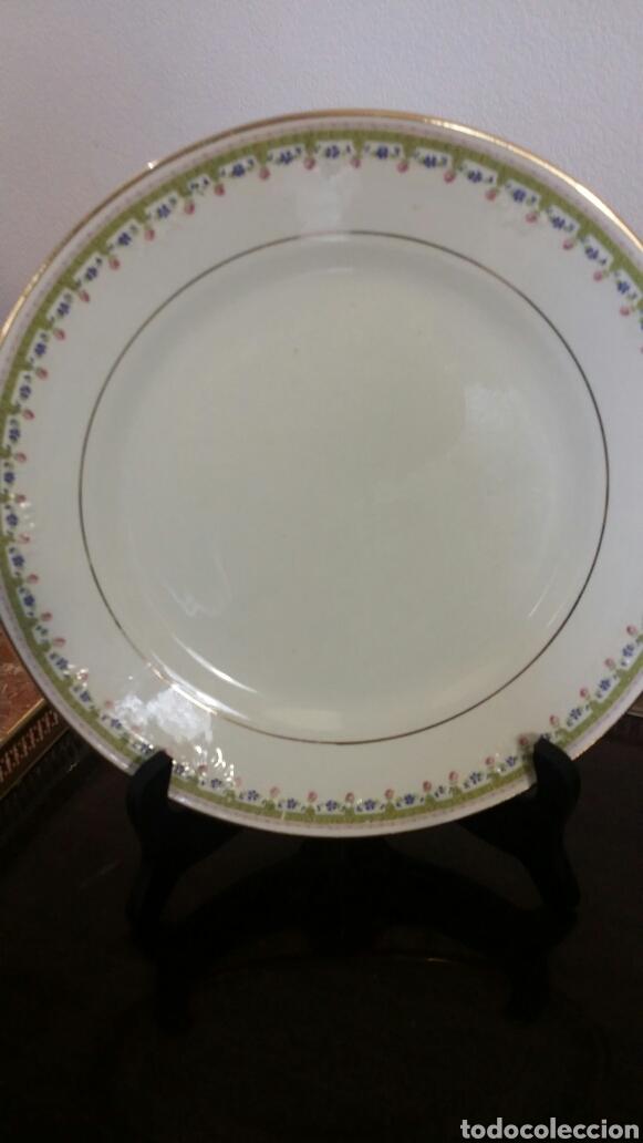 Antigüedades: 12 platos elegantes vintage porcelana Cartuja Sevilla Pickman antiguos - Foto 2 - 112425962