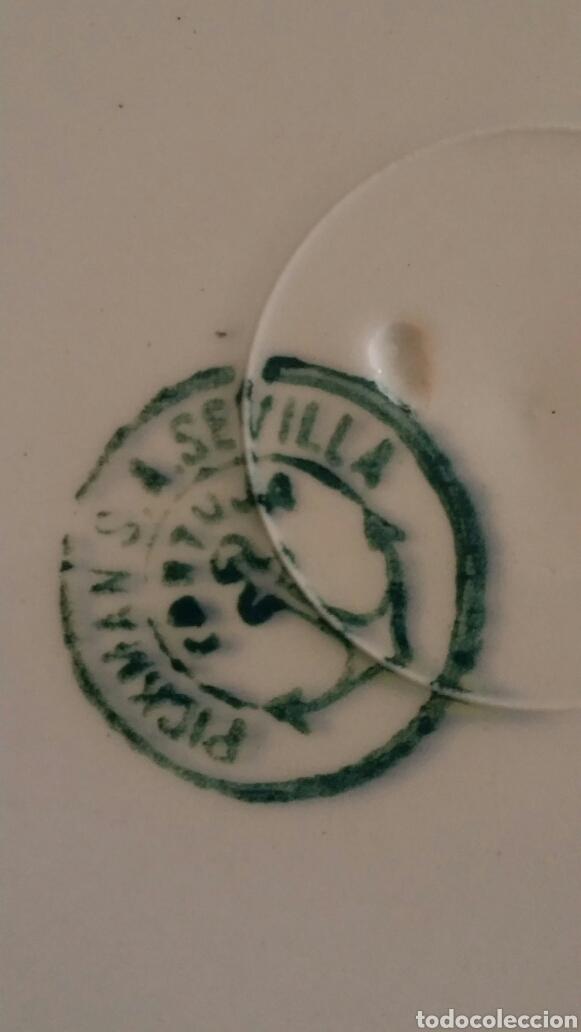 Antigüedades: 12 platos elegantes vintage porcelana Cartuja Sevilla Pickman antiguos - Foto 4 - 112425962