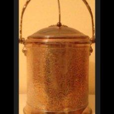 Antigüedades: CUBITERA ALPACA PLATA. Lote 110155399