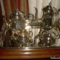 Antigüedades: PRECIOSO JUEGO DE CAFE DE METAL PLATEADO....MUY BUEN ESTADO DE CONSERVACION.. Lote 112451799
