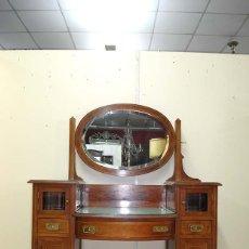 Antigüedades: MUEBLE TOCADOR ANTIGUO ESTILO MODERNISTA. Lote 112452451