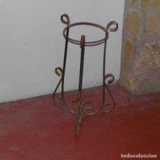 Antigüedades: MACETERO O PEDESTAL DE FORJA.. Lote 112455499