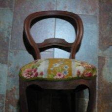 Antigüedades: SILLA ISABELINA DE NOGAL . Lote 112459655