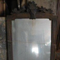 Antigüedades: ESPEJO DE CONSOLA ALFONSINA DE NOGAL, SOLO EL ESPEJO, A RESTAURAR. Lote 112462027