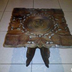 Antigüedades: BONITA MESA DE MADERA TALLADA.DESMONTABLE. Lote 112462879