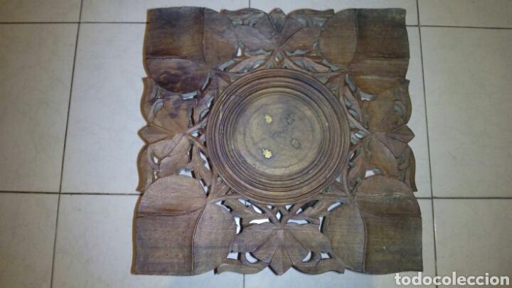 Antigüedades: Bonita mesa de Madera tallada.desmontable - Foto 2 - 112462879