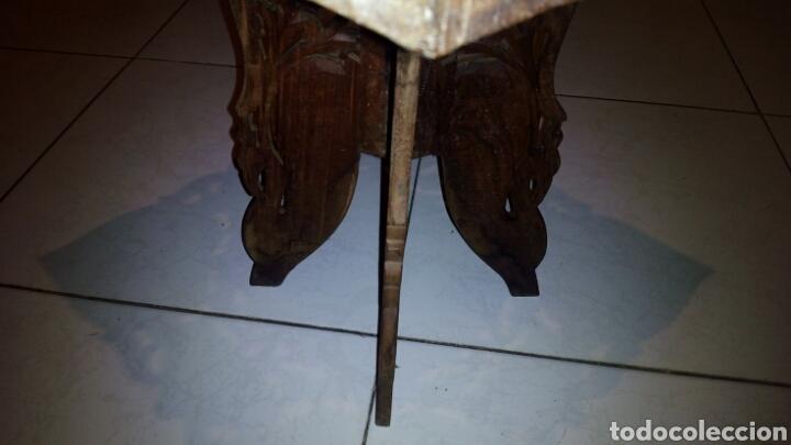 Antigüedades: Bonita mesa de Madera tallada.desmontable - Foto 4 - 112462879