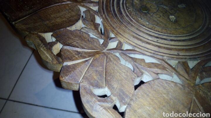Antigüedades: Bonita mesa de Madera tallada.desmontable - Foto 6 - 112462879