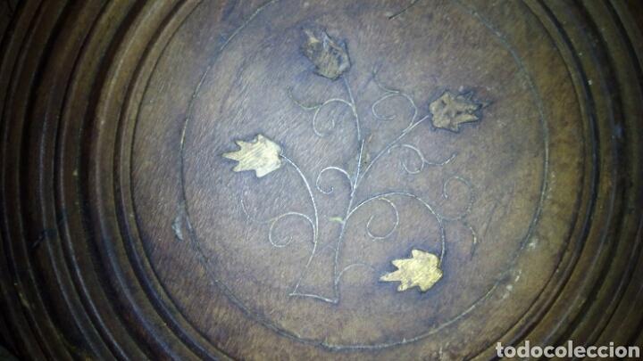 Antigüedades: Bonita mesa de Madera tallada.desmontable - Foto 7 - 112462879