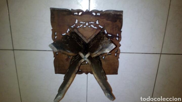 Antigüedades: Bonita mesa de Madera tallada.desmontable - Foto 8 - 112462879