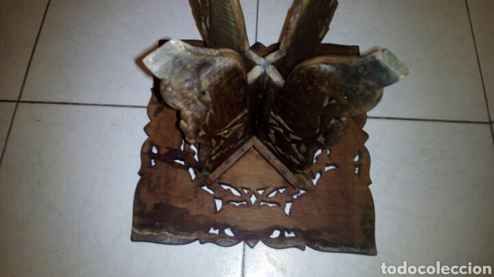 Antigüedades: Bonita mesa de Madera tallada.desmontable - Foto 9 - 112462879
