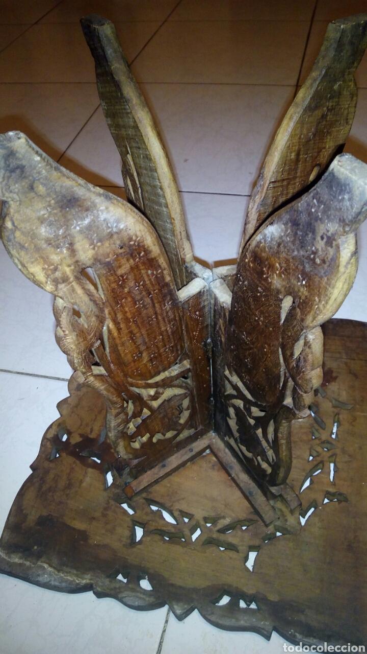 Antigüedades: Bonita mesa de Madera tallada.desmontable - Foto 10 - 112462879