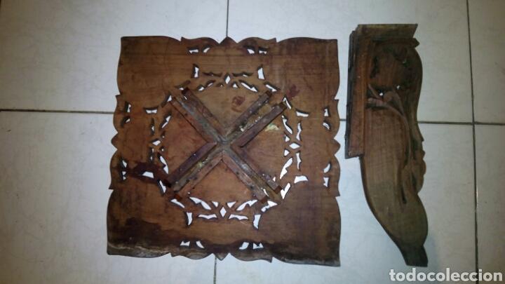 Antigüedades: Bonita mesa de Madera tallada.desmontable - Foto 11 - 112462879