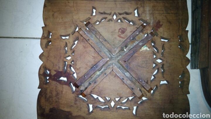 Antigüedades: Bonita mesa de Madera tallada.desmontable - Foto 12 - 112462879