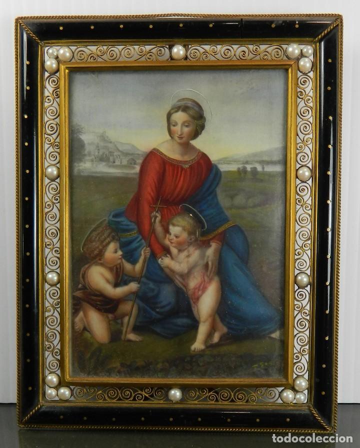 pintura miniatura francesa del siglo 19 después - Comprar Marcos ...