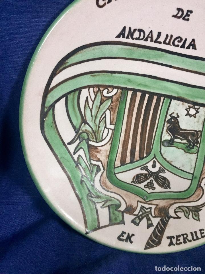 Antigüedades: domingo punter platos plato fluente ceramica vidriada para la casa regional de andalucia en Teruel - Foto 3 - 112495623