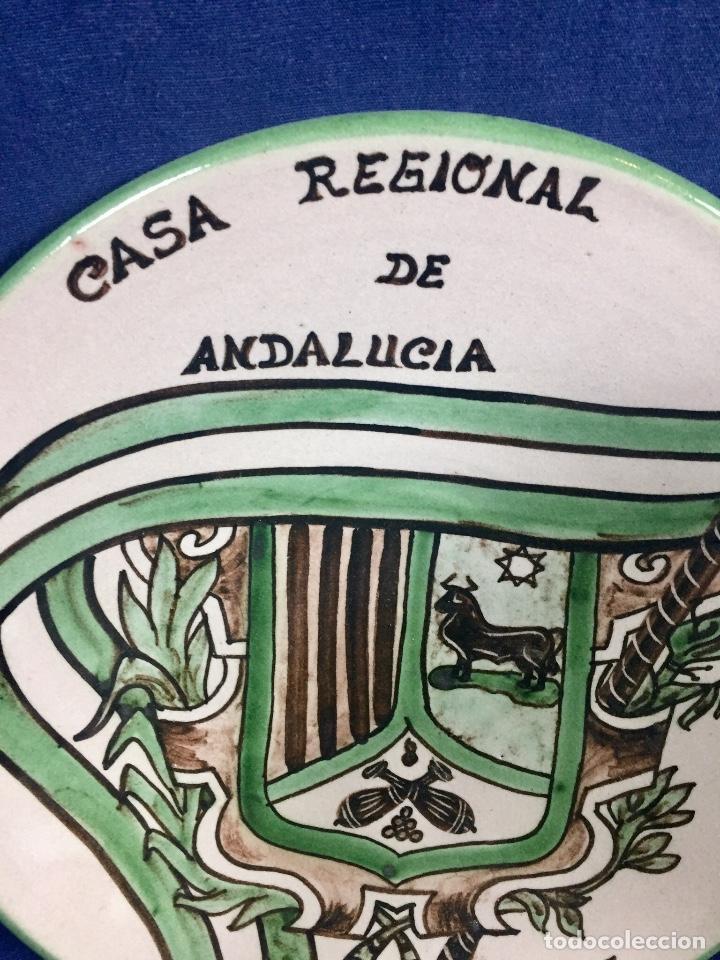 Antigüedades: domingo punter platos plato fluente ceramica vidriada para la casa regional de andalucia en Teruel - Foto 4 - 112495623