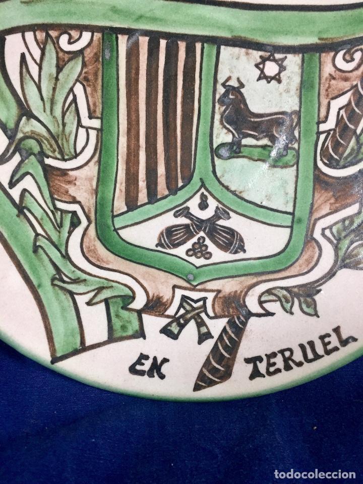 Antigüedades: domingo punter platos plato fluente ceramica vidriada para la casa regional de andalucia en Teruel - Foto 5 - 112495623