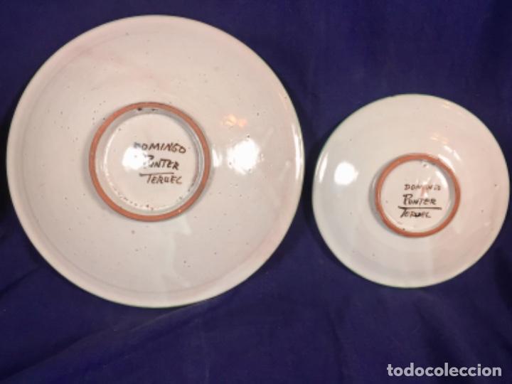 Antigüedades: domingo punter platos plato fluente ceramica vidriada para la casa regional de andalucia en Teruel - Foto 8 - 112495623