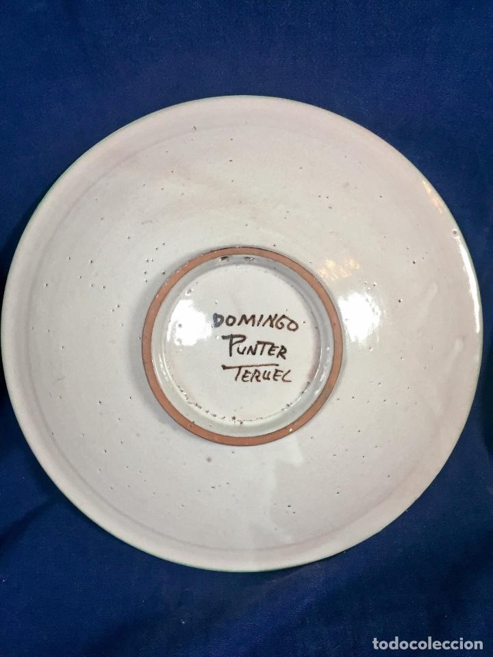 Antigüedades: domingo punter platos plato fluente ceramica vidriada para la casa regional de andalucia en Teruel - Foto 9 - 112495623