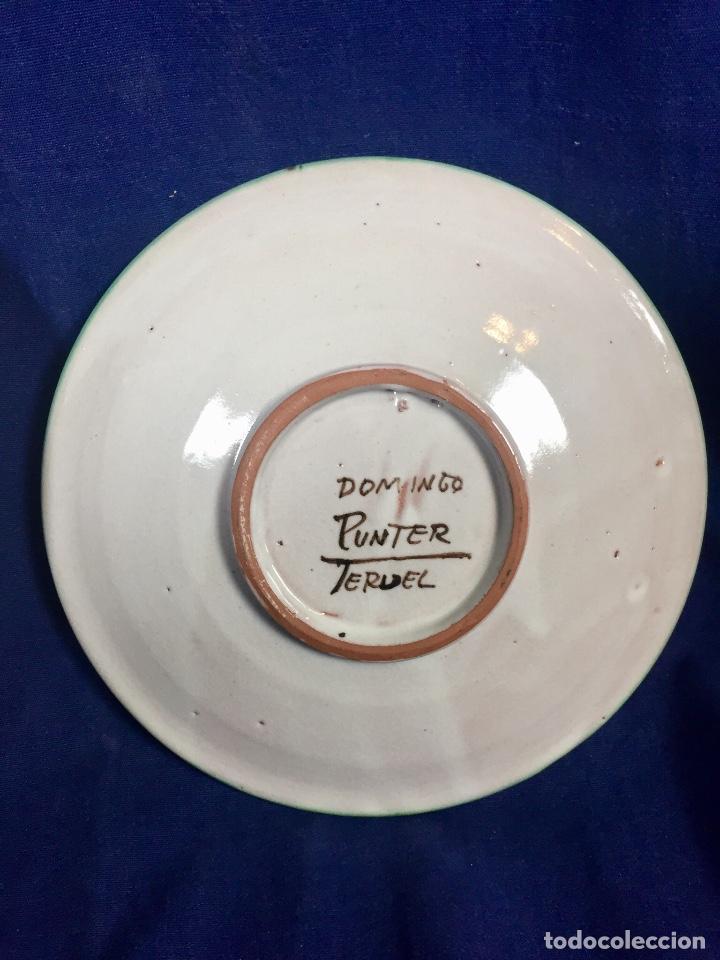 Antigüedades: domingo punter platos plato fluente ceramica vidriada para la casa regional de andalucia en Teruel - Foto 10 - 112495623