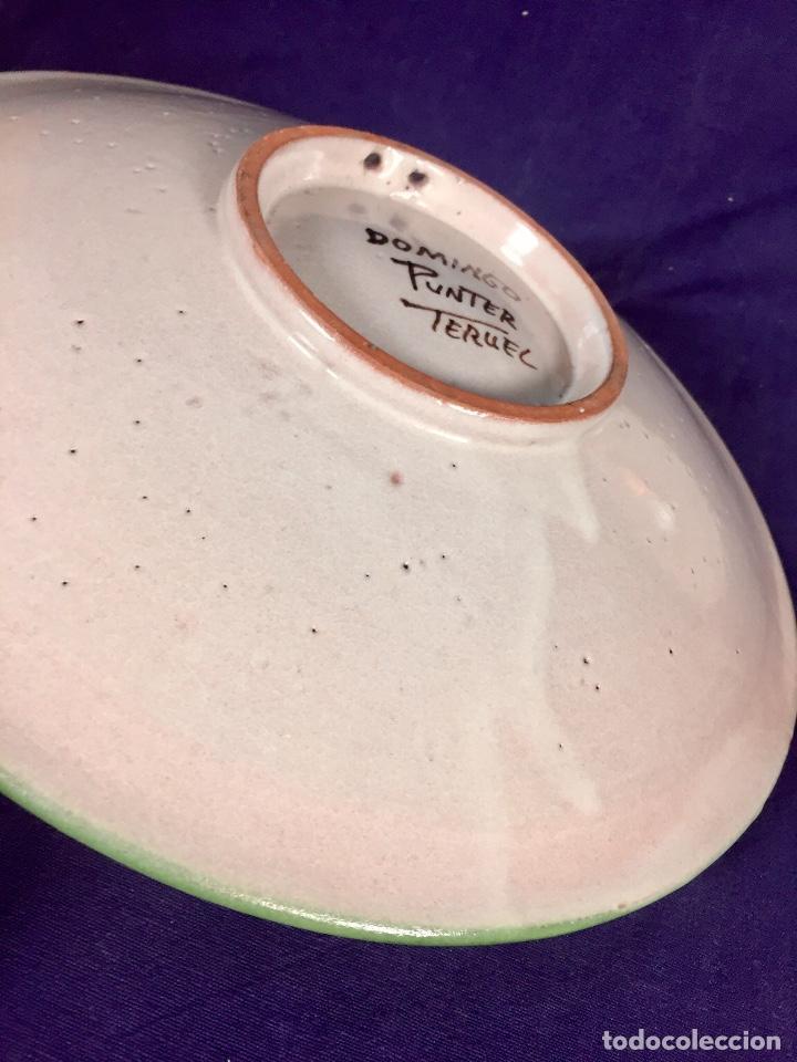 Antigüedades: domingo punter platos plato fluente ceramica vidriada para la casa regional de andalucia en Teruel - Foto 12 - 112495623
