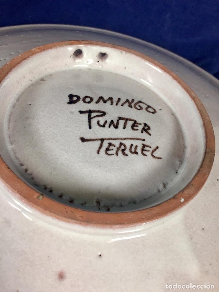 Antigüedades: domingo punter platos plato fluente ceramica vidriada para la casa regional de andalucia en Teruel - Foto 16 - 112495623