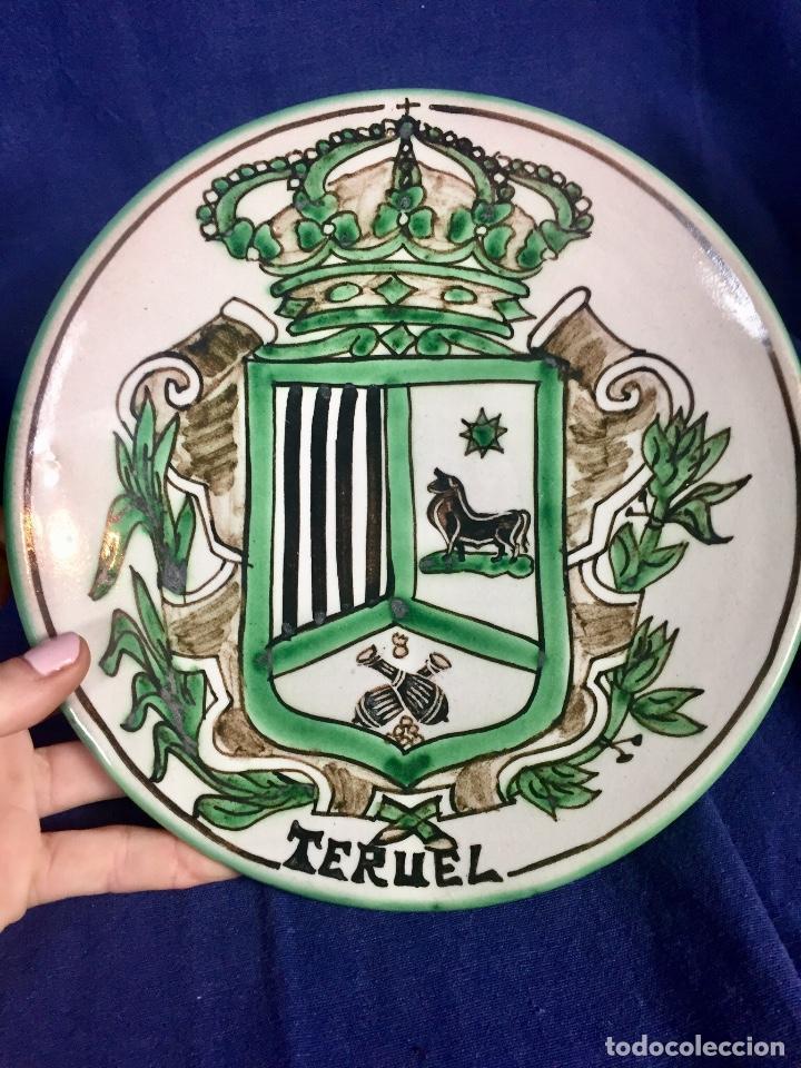 Antigüedades: domingo punter platos plato fluente ceramica vidriada para la casa regional de andalucia en Teruel - Foto 22 - 112495623