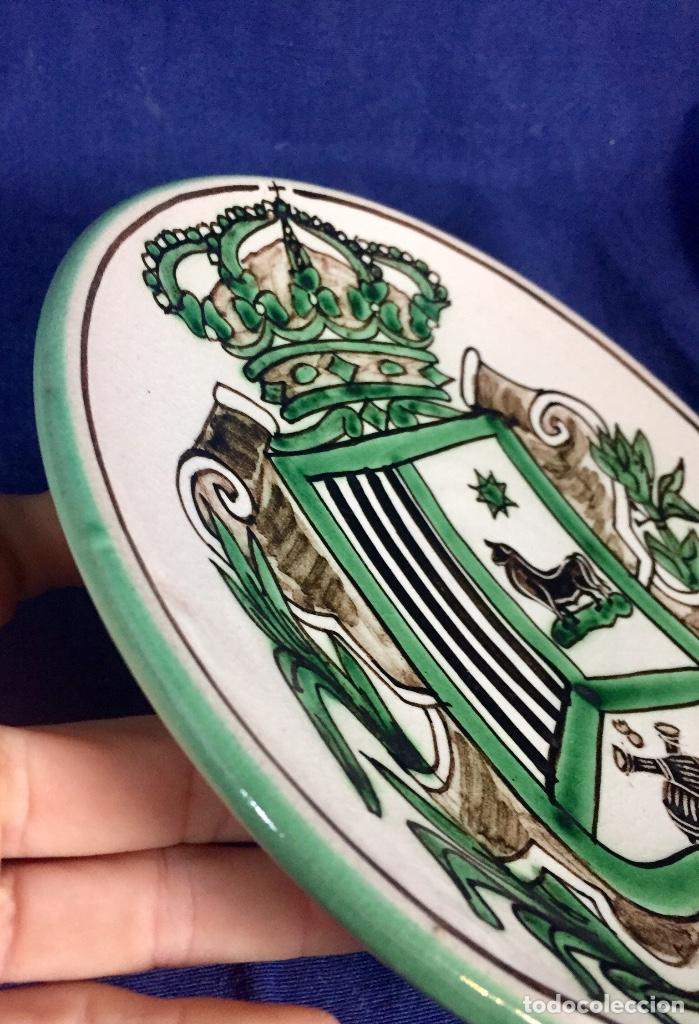 Antigüedades: domingo punter platos plato fluente ceramica vidriada para la casa regional de andalucia en Teruel - Foto 25 - 112495623