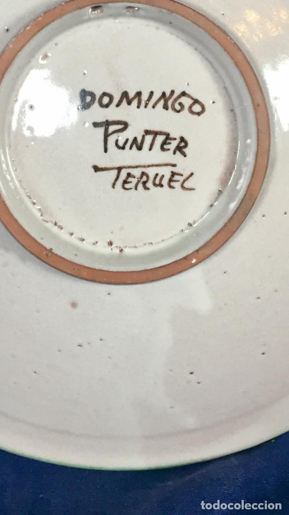 Antigüedades: domingo punter platos plato fluente ceramica vidriada para la casa regional de andalucia en Teruel - Foto 38 - 112495623