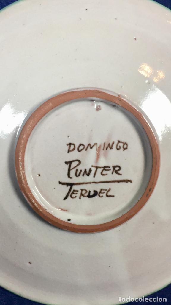 Antigüedades: domingo punter platos plato fluente ceramica vidriada para la casa regional de andalucia en Teruel - Foto 39 - 112495623