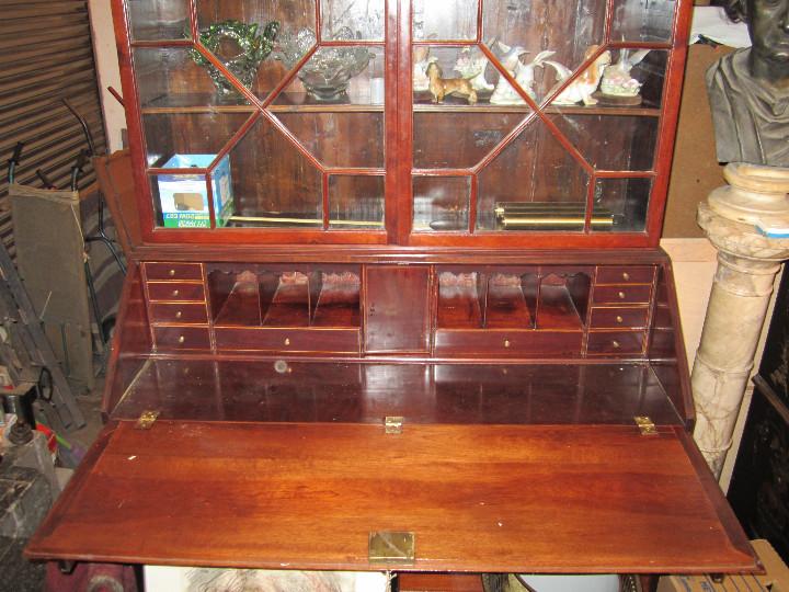 Antigüedades: Mueble canterano librería inglés en caoba, 1930's. 233 alto x 54 fondo x 120 ancho, - Foto 5 - 33414184