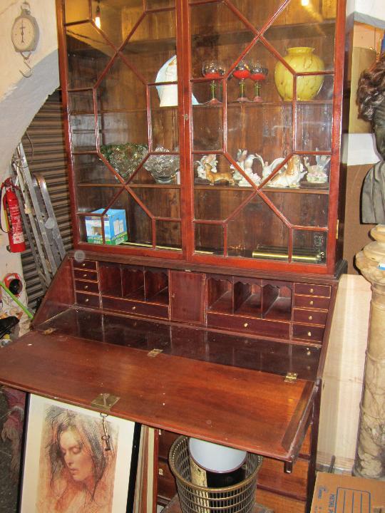 Antigüedades: Mueble canterano librería inglés en caoba, 1930's. 233 alto x 54 fondo x 120 ancho, - Foto 7 - 33414184