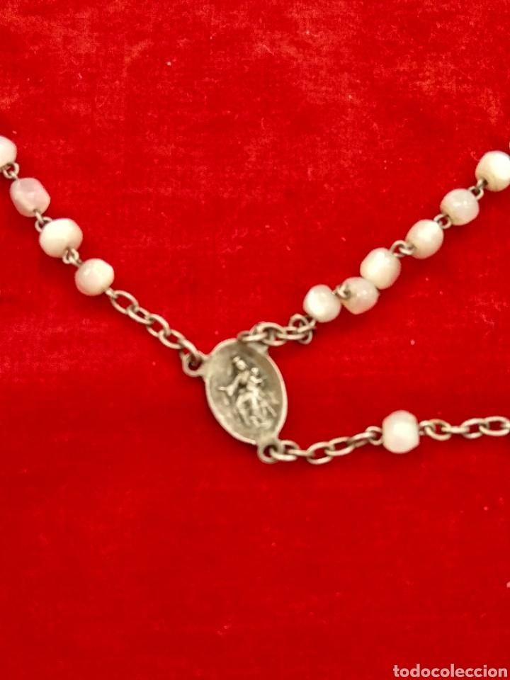 Antigüedades: Rosario plata y nácar - Foto 4 - 112506550