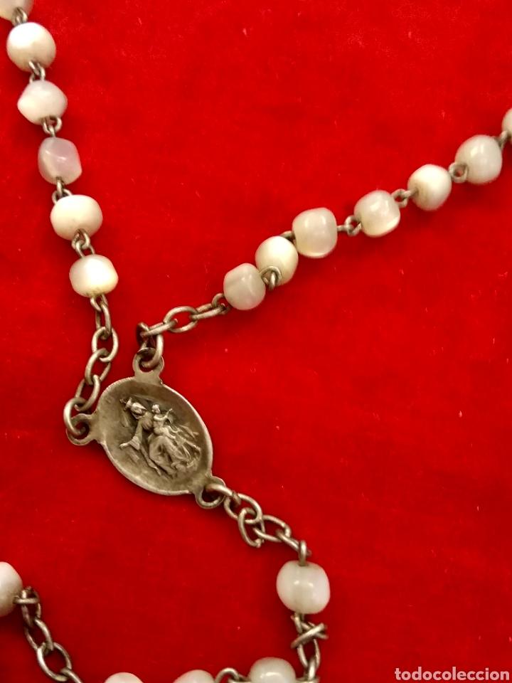 Antigüedades: Rosario plata y nácar - Foto 5 - 112506550
