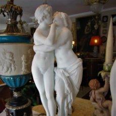 Antigüedades: SOBERBIA PAREJA DE BICUITS. Lote 112514263