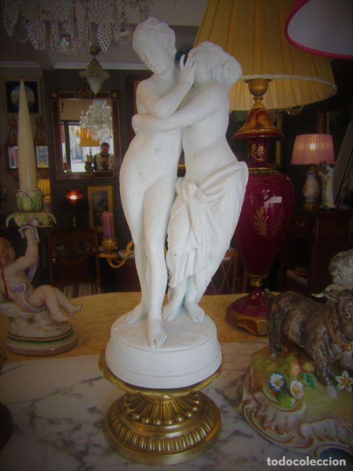 Antigüedades: SOBERBIA PAREJA DE BICUITS - Foto 3 - 112514263