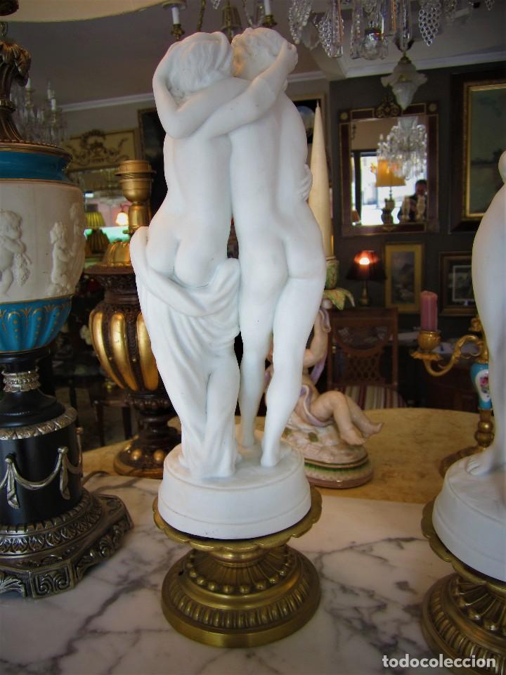 Antigüedades: SOBERBIA PAREJA DE BICUITS - Foto 5 - 112514263