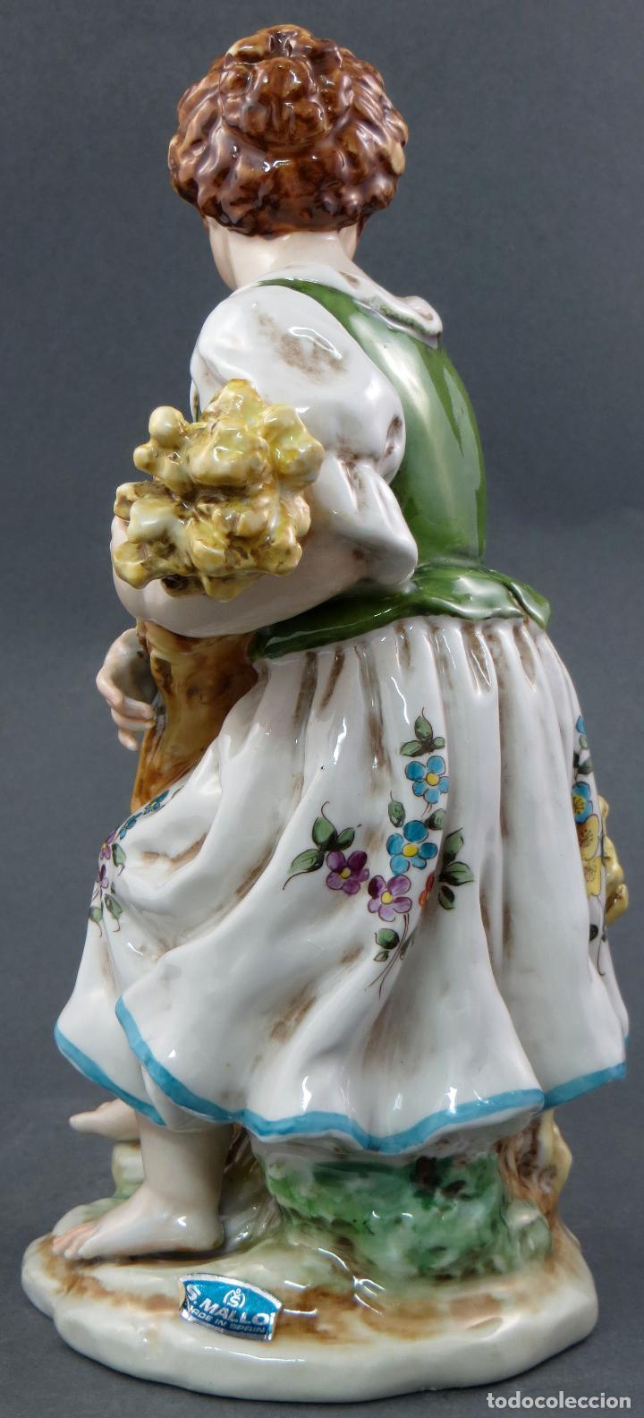 Antigüedades: Niña campesina serie estaciones Verano porcelana Hispania Salvador Mallol años 40 - Foto 3 - 112527479