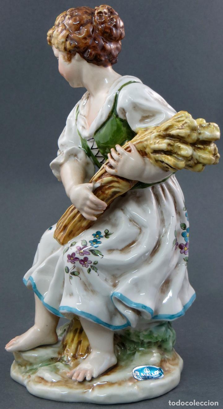 Antigüedades: Niña campesina serie estaciones Verano porcelana Hispania Salvador Mallol años 40 - Foto 4 - 112527479