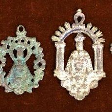 Antigüedades: 4 MEDALLAS RELIGIOSAS DE MOTIVO MARIANO. METAL. ESPAÑA.FIN SIGLO XIX. Lote 112533779