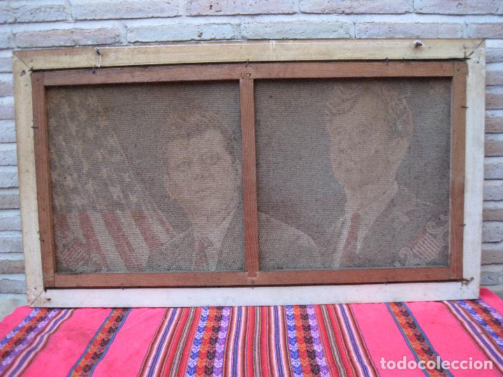 Antigüedades: TAPIZ MECANICO CON IMAGEN DE JOHN Y ROBERT FITZGERALD KENNEDY - BANDERA DE ESTADOS UNIDOS DE AMERICA - Foto 5 - 112537323
